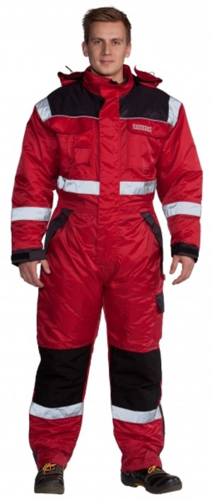 Ocean thermal coverall, Red/Black