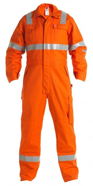FE Engel Safety+ overall med reflexer, Orange