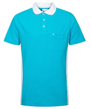 Clinic Dress herre polo T-shirt, Turkis