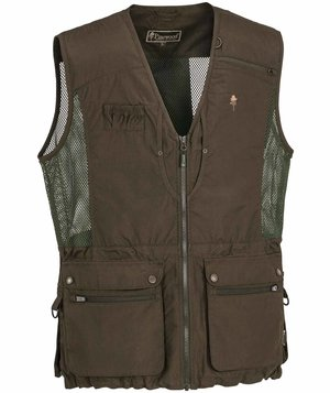 Pinewood Dog-Sports Light waistcoat, Suede Brown