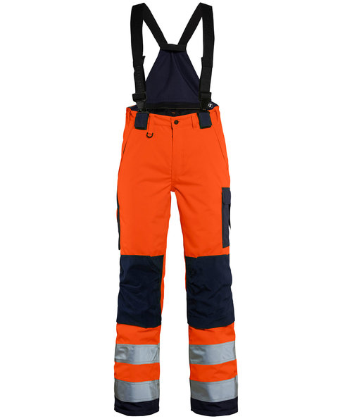 Blåkläder women's winter trousers, Hi-Vis Orange/Marine