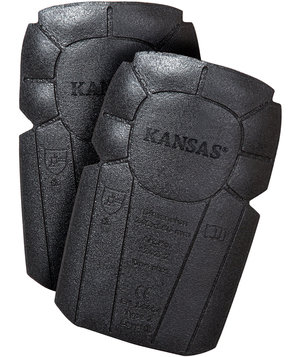 Kansas knee pads, 2-pack, Grey/Black