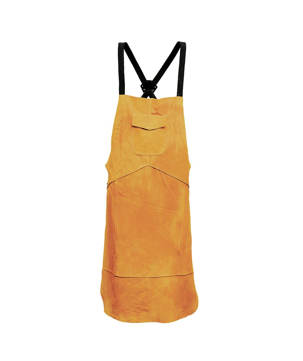 Portwest leather welding apron, Orange