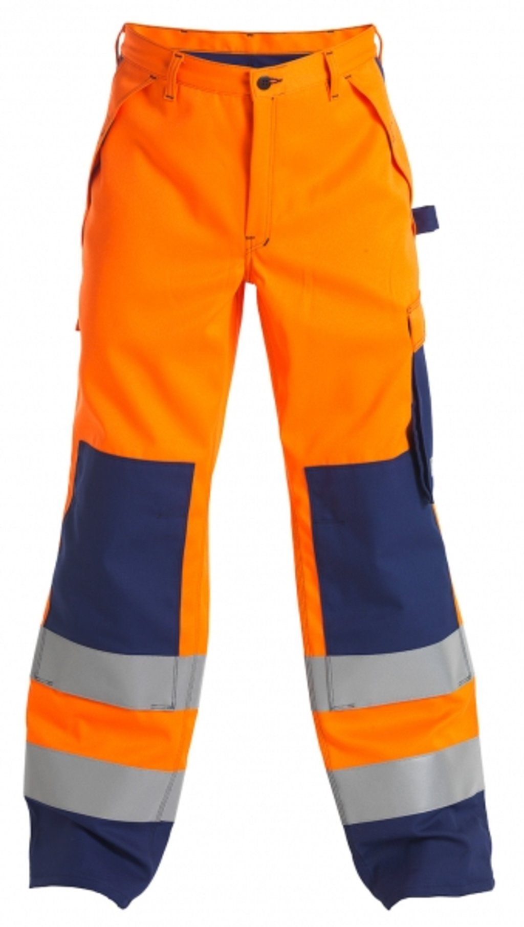 FE Engel Safety+ arbejdsbukser, Hi-Vis Orange/Marine