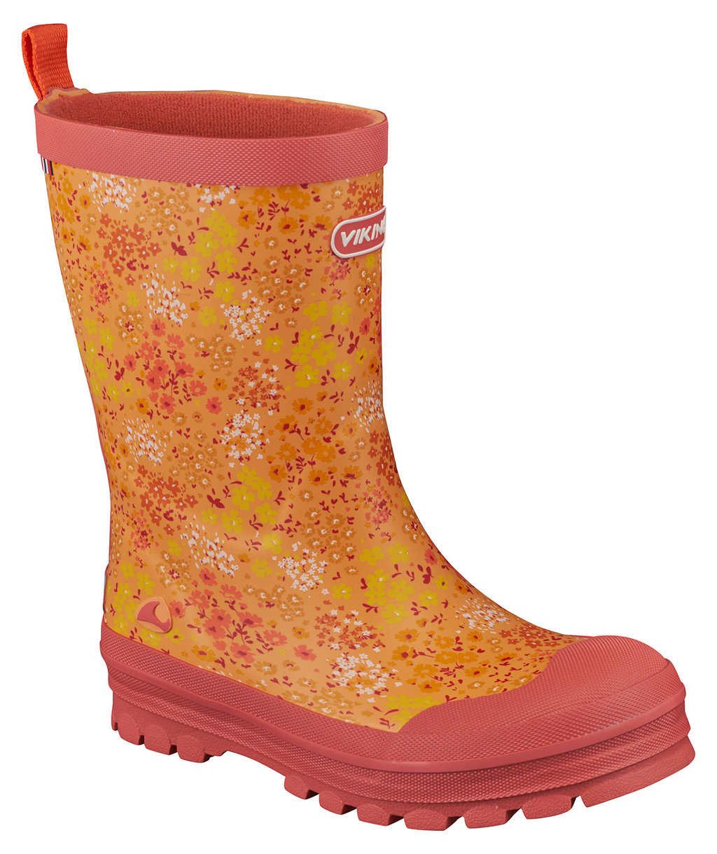 Viking Mimosa rubber boots for kids,  Coral