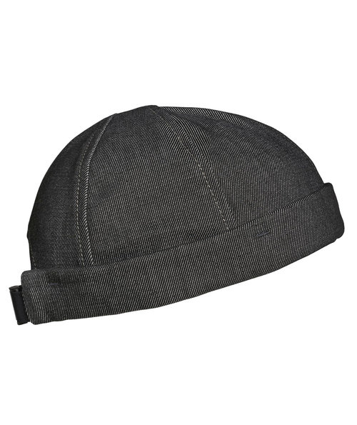 Kentaur roll up cap, Svart Melange