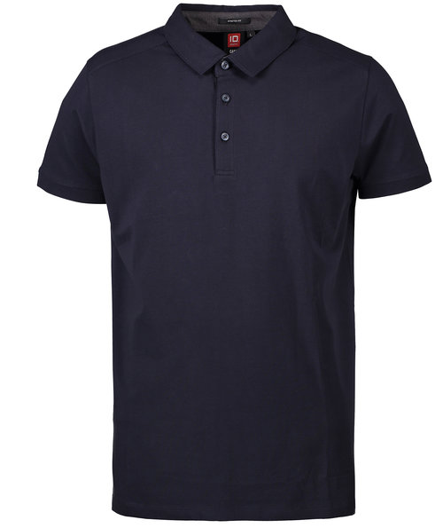 ID business polo med stretch, Navy