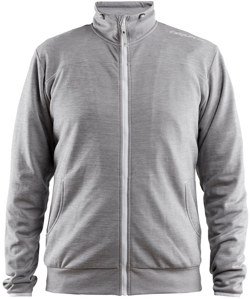 Craft Leisure sweatjacket, Grey Melange