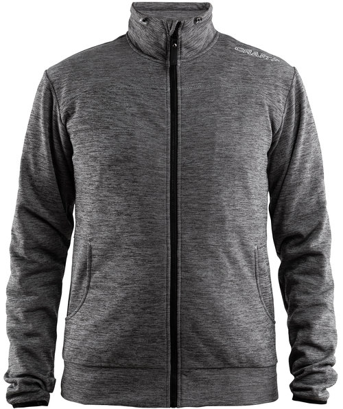 Craft Leisure sweatjacket, Dark Grey Melange