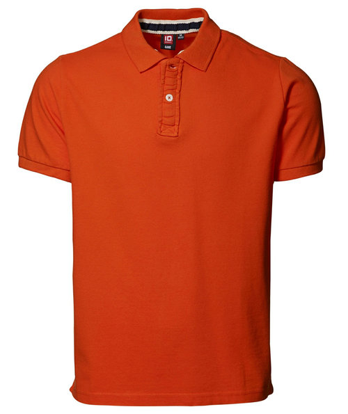 ID Casual pique polo T-shirt, Orange