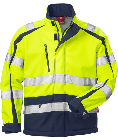 Kansas Windstopper® jakke, Hi-Vis Gul/Marineblå