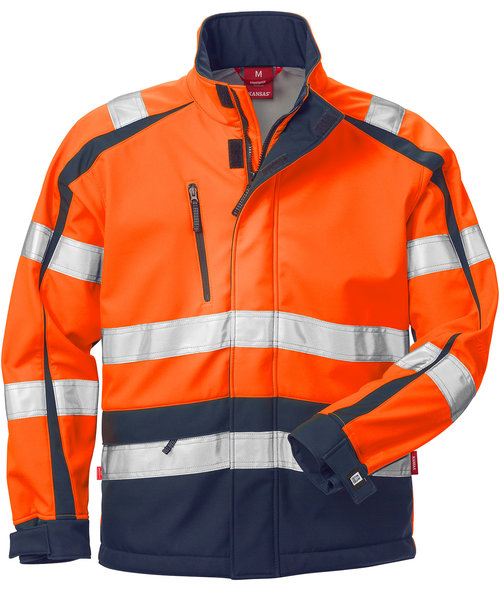Kansas Windstopper® jakke, Hi-Vis Orange/Marine