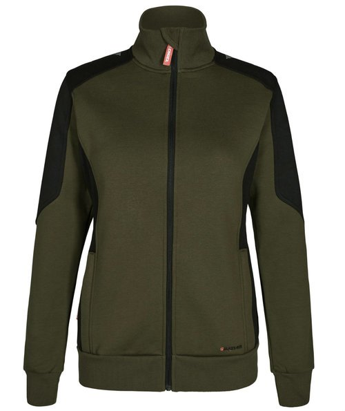 FE Engel Galaxy sweatcardigan dam, Forest Green/Svart