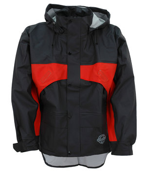 Abeko Atec Premium rain jacket, Black/Orange