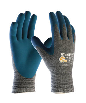 MaxiFlex Comfort 34-924 work gloves, Grey/Blue