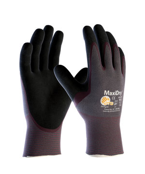 MaxiDry 56-424 work gloves, Black