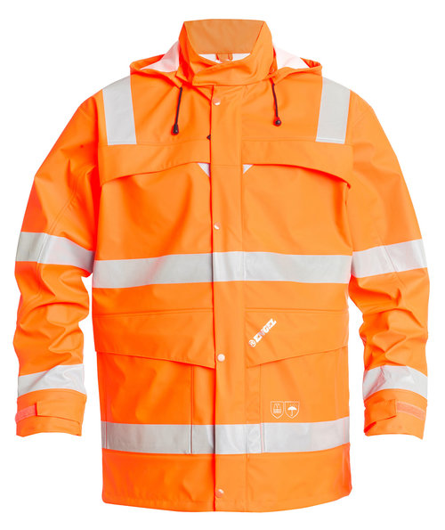 FE Engel Regenjacke, Hi-Vis Orange
