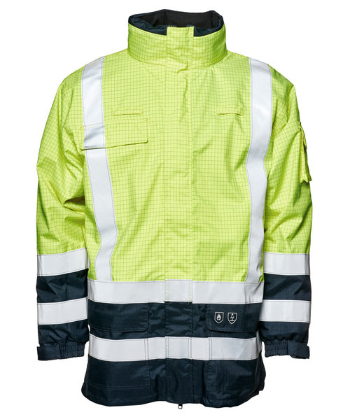 Elka Securetech Multinorm jacket, Hi-Vis Yellow/Marine