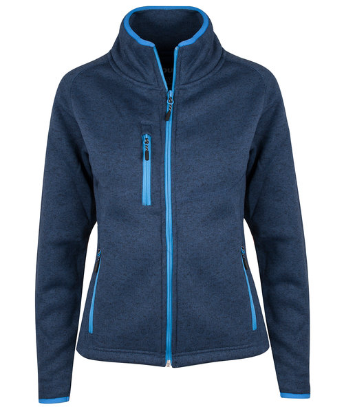 YOU Squaw valley women's knitted fleece, Marine Melange/Blue