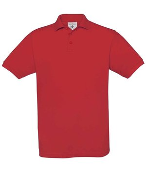 B&C Safran unisex polo shirt, Red