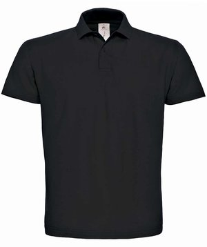 B&C ID.001 unisex polo T-shirt, Sort