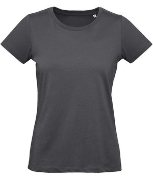 B&C Inspire Plus dame T-shirt, Dark-Grey
