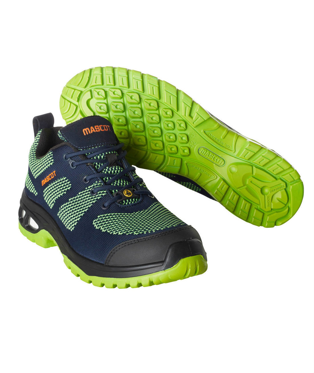 Mascot Energy safety shoes S1P, Dark Navy/Lime Green