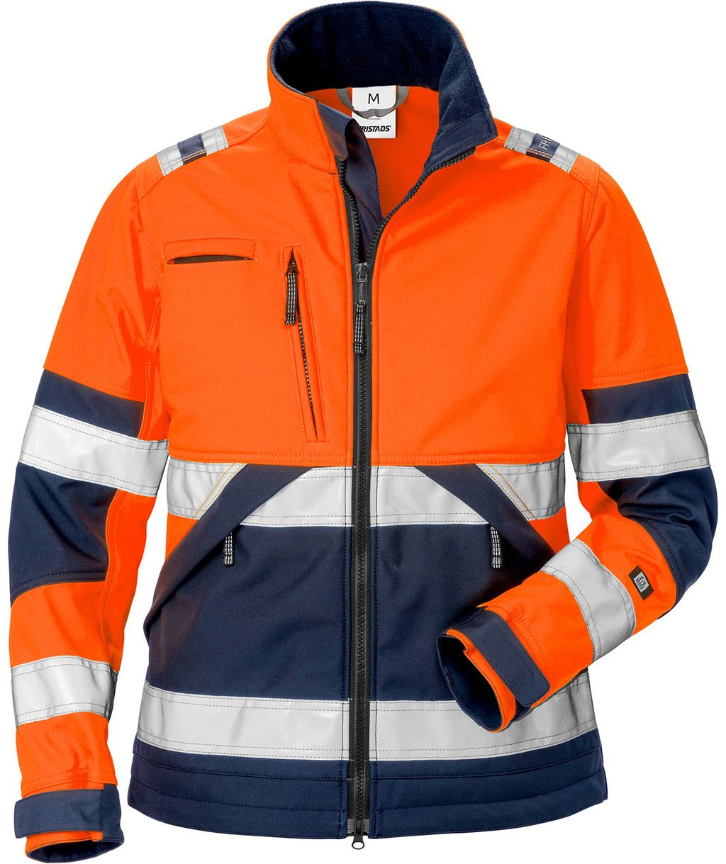 Fristads Damen Softshelljacke, Hi-Vis Orange/Marine