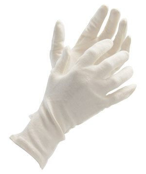 Worksafe long knitted gloves in cotton, Nature