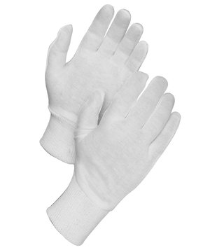 Worksafe knitted gloves cotton/polyester, White
