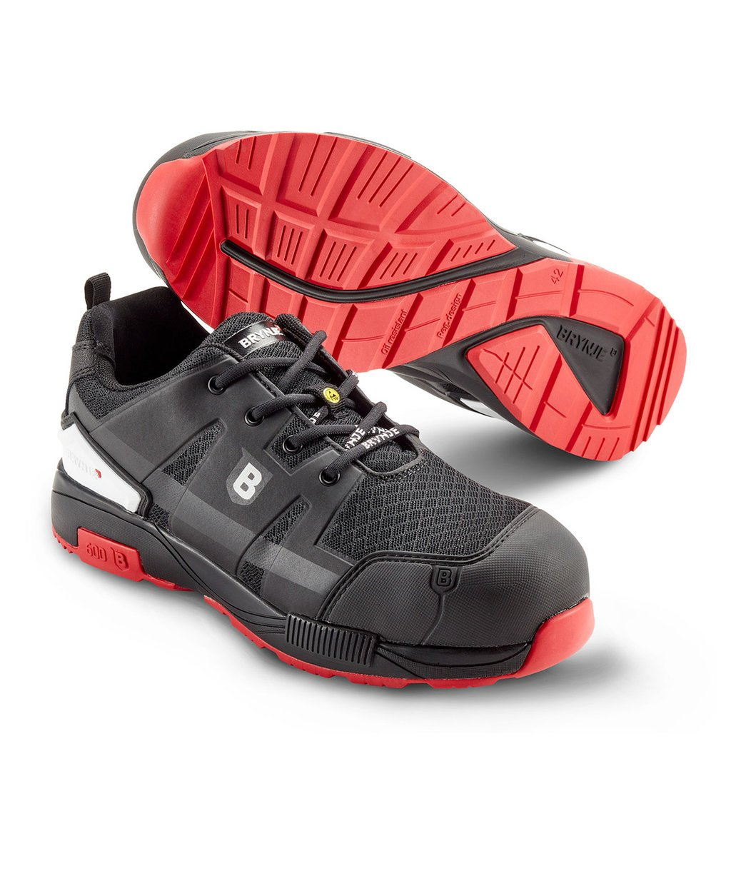 Brynje Climate safety shoes S3, Black/Red