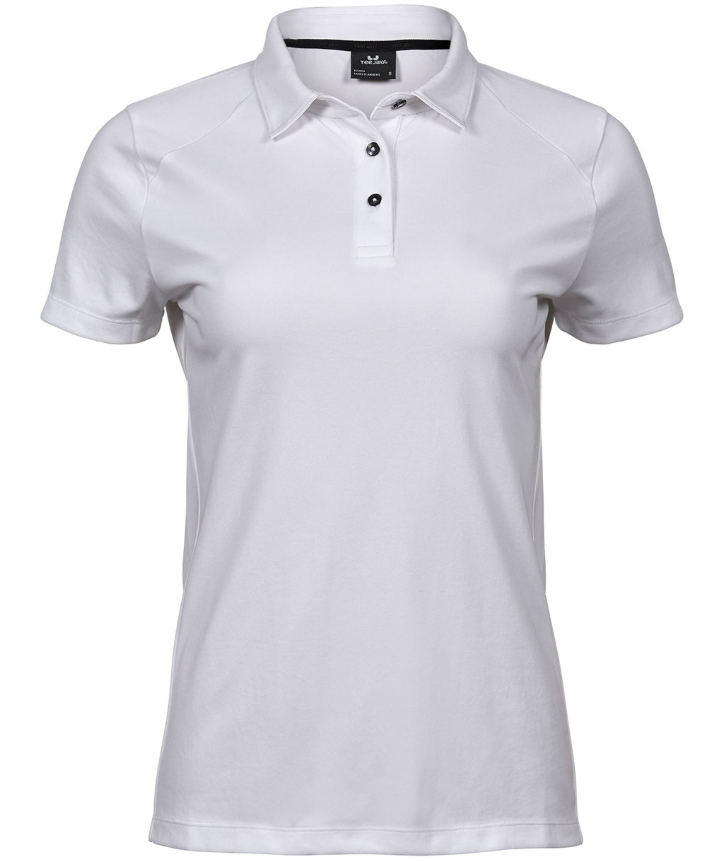 Tee Jays Luxury Sport dame polo T shirt, Hvid