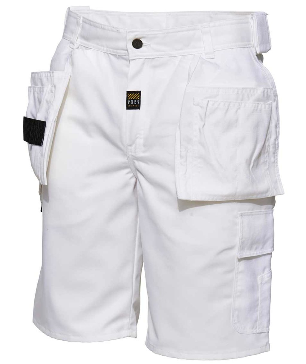 Workzone Casual craftsmens shorts, White