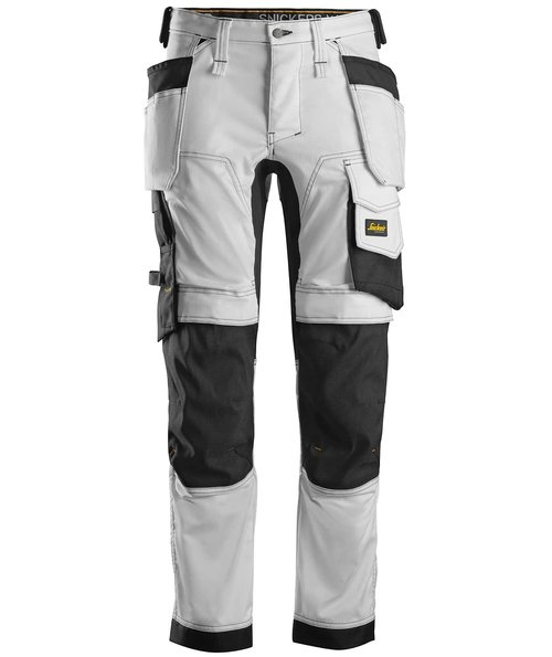 Snickers AllroundWork craftsmens trousers 6241, White/Black