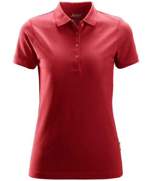 Snickers dame polo T-shirt, Chili Red