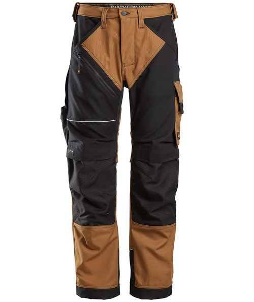Snickers RuffWork Canvas+ work trousers , Brown/Black