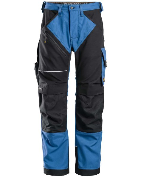 Snickers RuffWork Canvas+ work trousers , Blue/Black