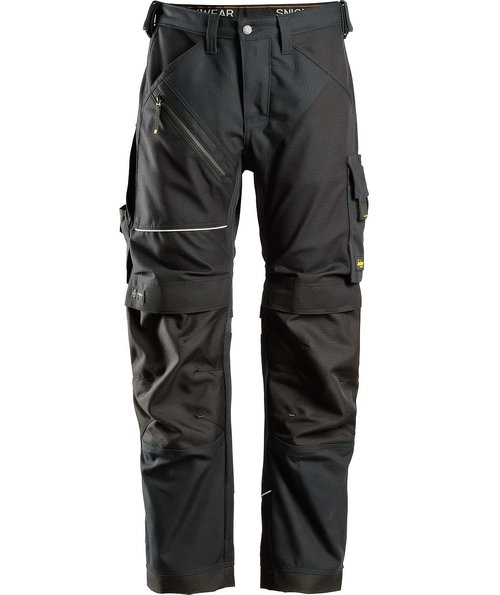 Snickers RuffWork Canvas+ work trousers , Black