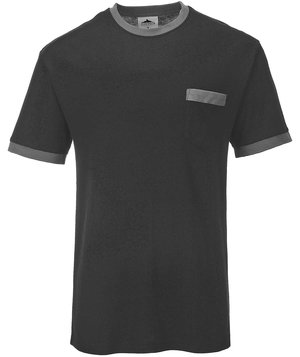 Portwest Texo T-shirt, Sort/Grå