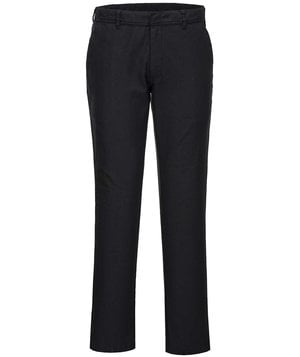 Portwest stretch slim service trousers, Black