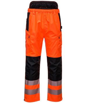 Portwest PW3 regnbukser, Hi-Vis Orange/Sort