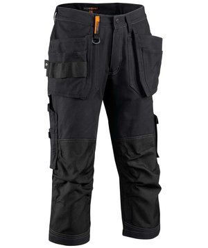 Worksafe dame knickers, 100% bomuld, Sort