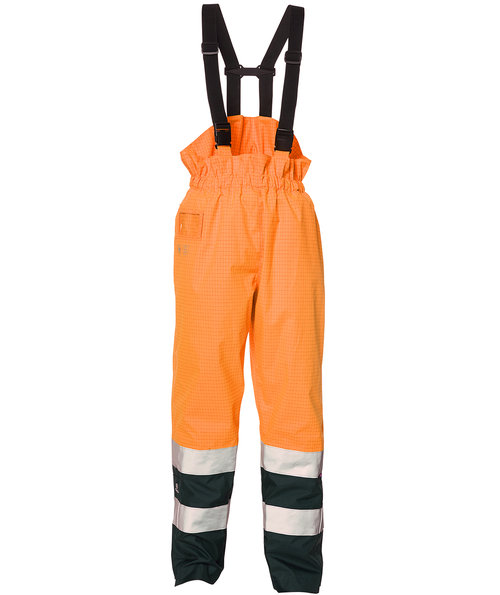 Elka Securetech Multinorm hängselbyxa, Hi-Vis Orange/Marina