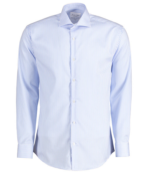 Seven Seas Kadet shirt modern fit, Light Blue