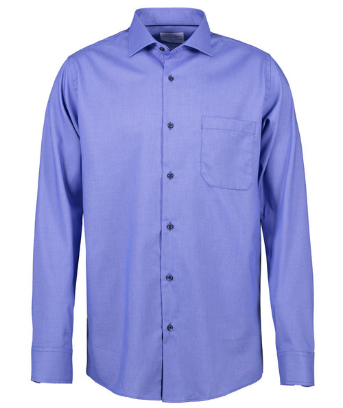 Seven Seas Dobby Royal Oxford Hemd - Modern Fit, Französisch Blau