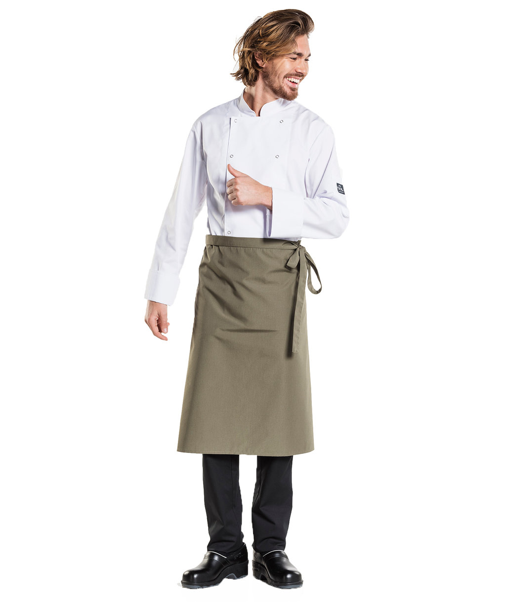 Chaud Devant apron, Dark Olive Green