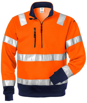 Fristads sweatshirt, Hi-Vis Orange/Marine
