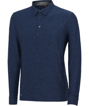 Pitch Stone langærmet polo, Navy Melange