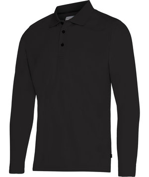 Pitch Stone long-sleeved polo shirt, Black
