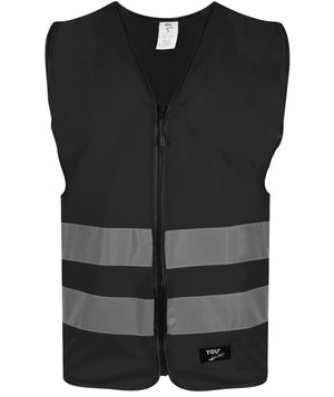 YOU Flen unisex refleksvest, Sort
